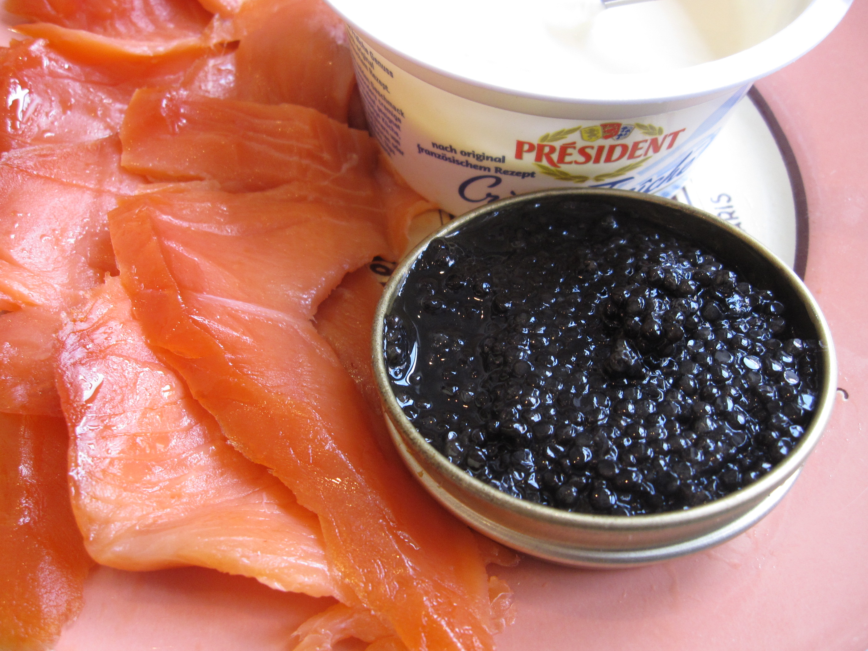blini with smoked salmon and caviar | one expat's life
